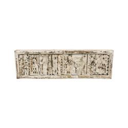 Percha de madera blanca 4 ganchos