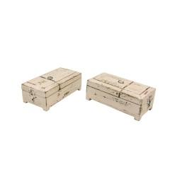 Caja de barbero madera blanca