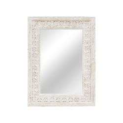 Espejo rectangular de madera tallado