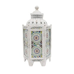 Farol hexagonal grande color blanco