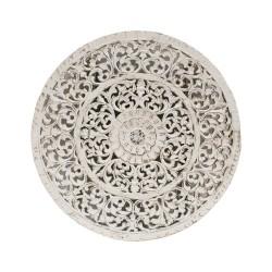 Mandala redondo madera blanco