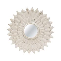 Espejo de madera forma de sol