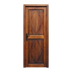 Puerta de de paso de dos paños ocn talla ROMBOS
