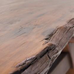 Mesa de centro de madera de castaño