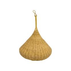 Lámpara de mimbre forma pera