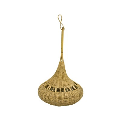 Lámpara de mimbre forma de pera