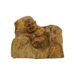 Figura de buda tallado en madera de teca