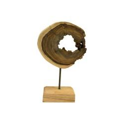 Escultura de teca