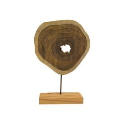 Escultura tronco de teca