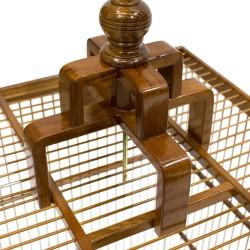 Jaula decorativa madera de teca