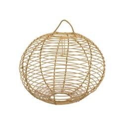 Lámpara de mimbre forma de bola