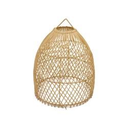 Lámpara de mimbre forma jaula