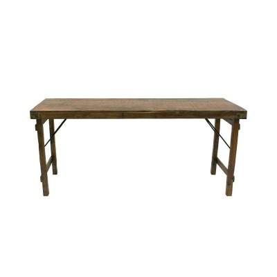 Mesa consola de madera plegable