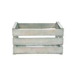 Caja de madera 3 listones gris