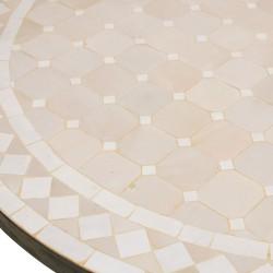 Mesa redonda de mosaico