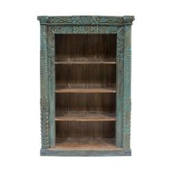 Librería de madera azul