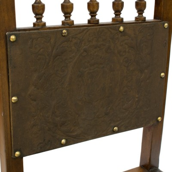 Silla antigua madera y cuero