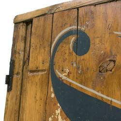 Hoja de puerta antigua