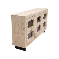 Aparador de madera tres puertas