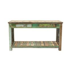 Consola de madera vintage