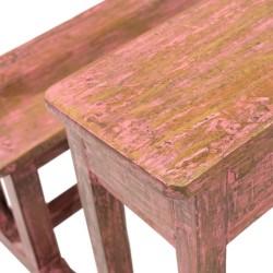 Pupitre de madera acabado rosa