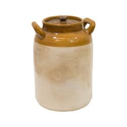 Garrafa de cerámica esmaltada en dos colores