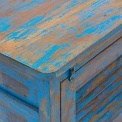 Mesita de noche Mallorca azul