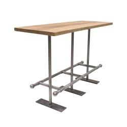 Mesa alta de estilo industrial