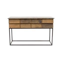 Consola antigua de madera y forja