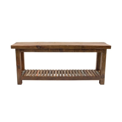 Consola de madera rústica