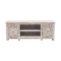 Mueble de tv de madera blanco