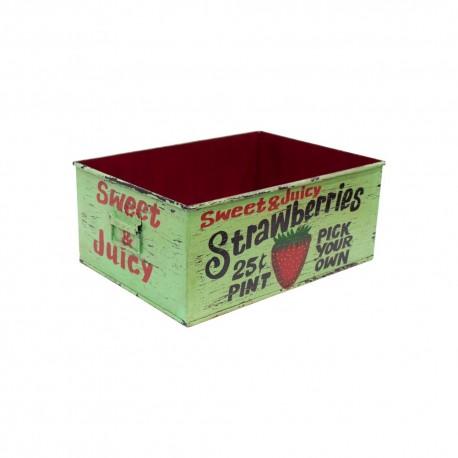 Caja de almacenaje metálica