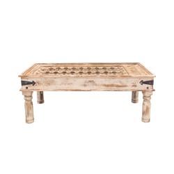 Mesa de centro madera inspiración india