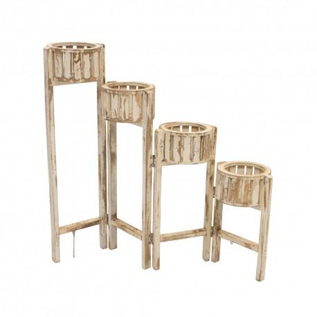 Macetero plegable de madera