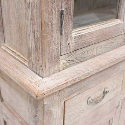 Aparador de madera dos módulos