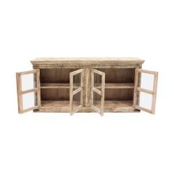 Aparador de madera acristalado