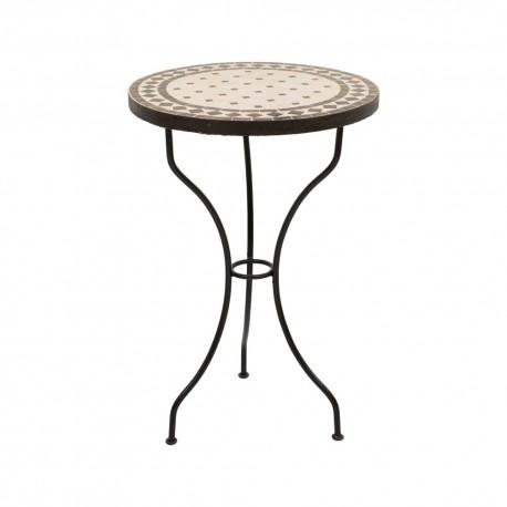 Mesa de mosaico redonda
