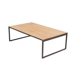 Mesa de centro rectangular estilo industrial
