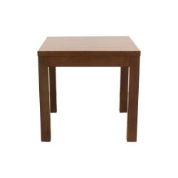Mesa de comedor de madera cuadrada