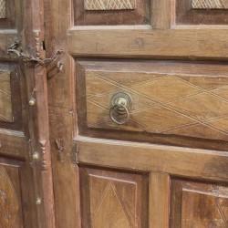 Puerta antigua 2 hojas medio punto