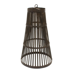 Lámpara de techo cónica negra