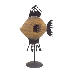 Figura pez madera y chapa grande