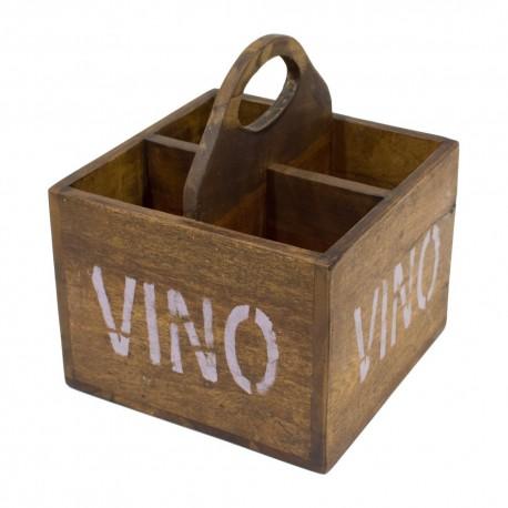 Caja botellera madera