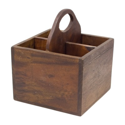 Caja botellera de madera