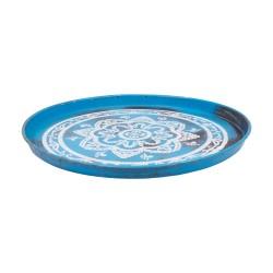 Bandeja mandala azul