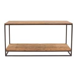 Consola rústica de madera y forja
