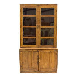 Vitrina de 2 módulos de madera