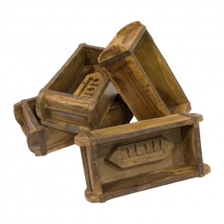 Caja molde de madera
