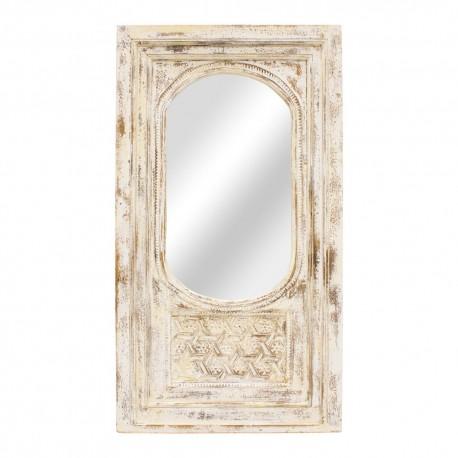 Espejo portada de madera beige