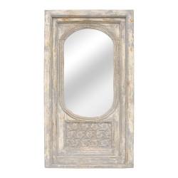 Espejo portada de madera gris